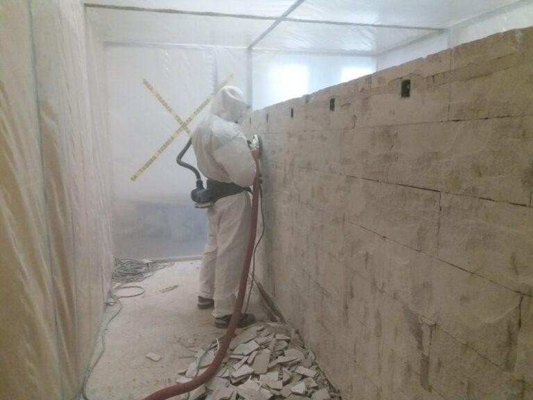 væg slibes for asbest